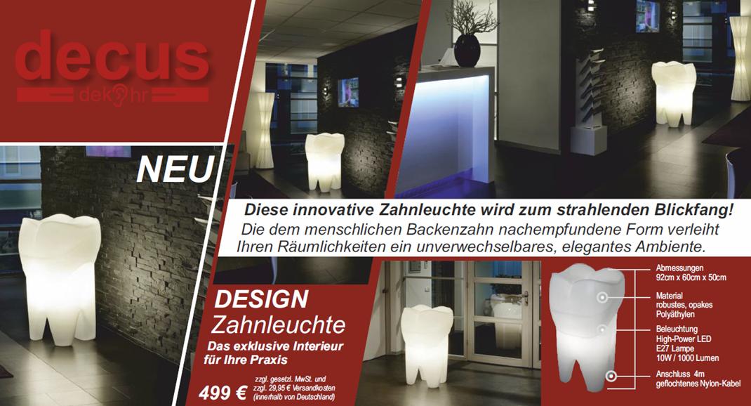 design zahnleuchte xxl. Black Bedroom Furniture Sets. Home Design Ideas